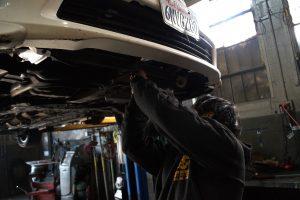 brandon working on car
