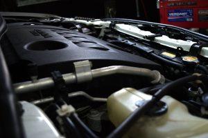 car engine side